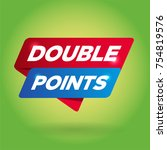double points arrow tag sign. | Shutterstock .eps vector #754819576