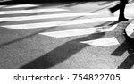 Blurry Zebra Crossing With...