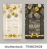 christmas greeting card   type... | Shutterstock .eps vector #754823428
