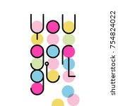 linear lettering you go girl | Shutterstock .eps vector #754824022