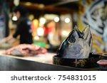 Head Of Tuna Fish After Tuna...