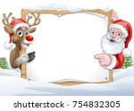 a christmas background with... | Shutterstock .eps vector #754832305