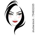 illustration of women hair... | Shutterstock .eps vector #754832335