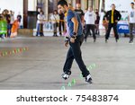valencia  spain   april 16 ... | Shutterstock . vector #75483874