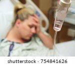 woman in hospital   Shutterstock . vector #754841626