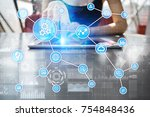 automation concept as an... | Shutterstock . vector #754848436