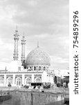 old antique mosque    minaret...   Shutterstock . vector #754859296