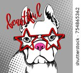 french bulldog. vector... | Shutterstock .eps vector #754865362