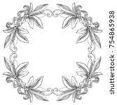 laurel wreath. vector...   Shutterstock .eps vector #754865938