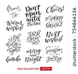 vector set of holidays... | Shutterstock .eps vector #754866136