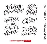 vector set of holidays... | Shutterstock .eps vector #754866142