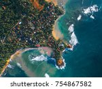 aerial view of the cape of town ... | Shutterstock . vector #754867582