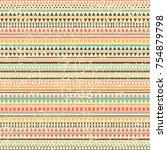 vector pattern of geometric... | Shutterstock .eps vector #754879798