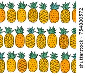 seamless summer pattern with... | Shutterstock .eps vector #754880572