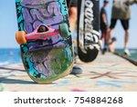 odessa ukraine 1 august 2017...   Shutterstock . vector #754884268