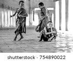 bagan myanmar 2014  three...   Shutterstock . vector #754890022