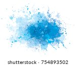 vector blue  splashing  blot. | Shutterstock .eps vector #754893502