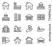 thin line icon set   home ...   Shutterstock .eps vector #754896118