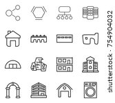 thin line icon set   molecule ... | Shutterstock .eps vector #754904032