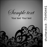 card with a black lace | Shutterstock .eps vector #75490441