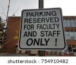 white parking reserved for... | Shutterstock . vector #754910482