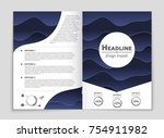 abstract vector layout... | Shutterstock .eps vector #754911982