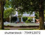 Two Story White Wood House With ...