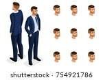 quality isometry  3d is a solid ... | Shutterstock .eps vector #754921786