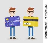 personal finances. bank account.... | Shutterstock .eps vector #754926082