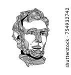 classical sculpture. vector... | Shutterstock .eps vector #754932742