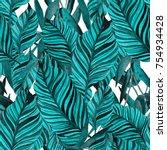 watercolor seamless pattern...   Shutterstock . vector #754934428