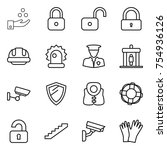 thin line icon set   chemical... | Shutterstock .eps vector #754936126