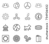 thin line icon set   group ...