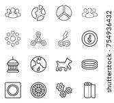 thin line icon set   group ...