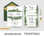 wedding invitation save the... | Shutterstock .eps vector #754937065