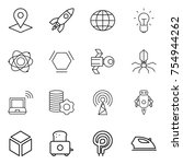 thin line icon set   pointer ... | Shutterstock .eps vector #754944262