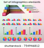 set of infographics elements in ... | Shutterstock .eps vector #754946812
