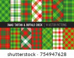 christmas tartan and check... | Shutterstock .eps vector #754947628