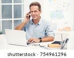 senior stylish business man in... | Shutterstock . vector #754961296