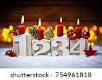 fourth sunday in advent concept ...   Shutterstock . vector #754961818
