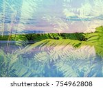 the beautiful abstract mixed... | Shutterstock . vector #754962808