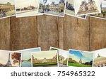 collage france paris. selective ... | Shutterstock . vector #754965322