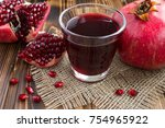 pomegranate juice in the glass