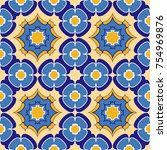 seamless pattern abstract. the... | Shutterstock . vector #754969876