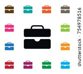 isolated suitcase icon.... | Shutterstock .eps vector #754978516