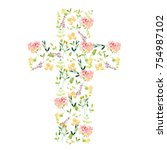 Cute Watercolor Flower Cross...