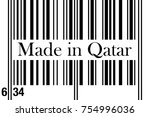 bar code vector with text made... | Shutterstock .eps vector #754996036