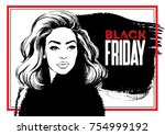 vector glamour fashion sketch... | Shutterstock .eps vector #754999192