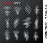 set of half transparent vector... | Shutterstock .eps vector #755008516