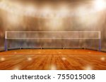 low angle view of volleyball... | Shutterstock . vector #755015008